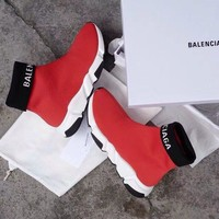 Balenciaga Speed Trainer Sock sneakers shoes red