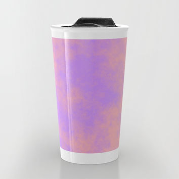 Cotton Candy Clouds - Pink & Purple Travel Mug by Moonshine Paradise