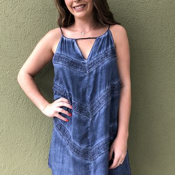 Dreaming in Denim Dress - Blue