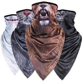 Winter Animal Printing Face Mask Cold Protection Ski Mask Snowboard Windproof Cap Motorcycle Bicyle Bike Scarf