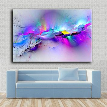 Large size Printing Oil Painting Wall painting abstract-colors art Wall Art Picture For Living Room painting no frame
