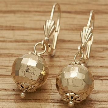 Gold Layered Women Disco Dangle Earring, by Folks Jewelry