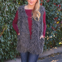Great Lengths Fur Vest - Grey