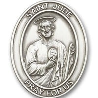 ST. JUDE. Antique Silver St. Jude Visor Clip. Desperate Situations