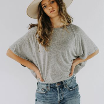 Free People: Weekend Tee (Grey)