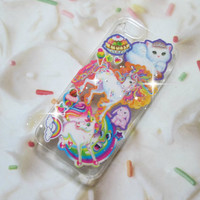 Vintage Lisa Frank 90s Glitter iPhone 4 4s 5 Samsung Galaxy Case Unicorn Rainbow Cat