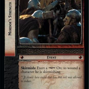 Lord of the Rings TCG - Mordor's Strength - Fellowship of the Ring