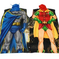 Dynamic Duo Batman and Robin Poncho Costume/Lounge wear Set