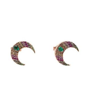 WOODBURY | 18k Gold Moon-Shaped Stud Earrings | brownsfashion.com | The Finest Edit of Luxury Fashion | Clothes, Shoes, Bags and Accessories for Men & Women