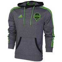 Seattle Sounders FC adidas Pullover Hooded Sweatshirt - Black - http://www.shareasale.com/m-pr.cfm?merchantID=7124&userID=1042934&productID=548701403 / Seattle Sounders FC