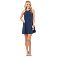 Christine Lace Inset Dress in Nautical Navy by Southern Tide