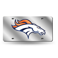 Denver Broncos NFL Laser Cut License Plate Tag