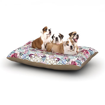 "DLKG Design ""Cool Stitch White"" Blush Dog Bed"