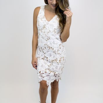 Ivory Lace Dress - Ark & Co.