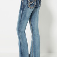 Sandblasted & Embroidered Flare Jean in Curvy | Curvy Jeans | rue21