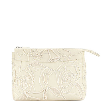 THE ROW Two for One 12 Raffia Pouch, Neutral