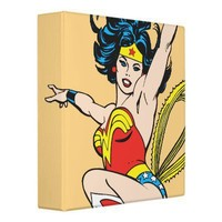 Wonder Woman Arms Raised Vinyl Binders from Zazzle.com