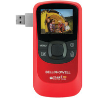 Bell+howell 5.0 Megapixel 1080p Take1hd Digital Video Camcorder Wtih Flip-out Usb (red)