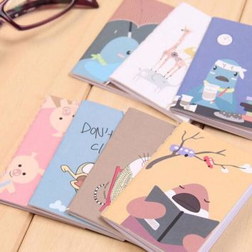 ICIK272 8x6cm 20pages/sheet lovely cartoon image notebook Vintage Retro Notepad Book for Kids Korean Stationery Free shipping