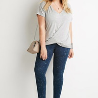 Plus Size Mineral Wash Skinny Jeans