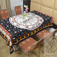 Indian Cotton Table Cloth Horoscope Zodiac Print Table Cover Tapestry Wall Hanging TC05