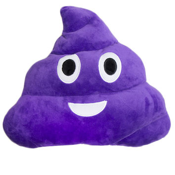 GRAPE SCENTED POOP EMOJI PILLOW