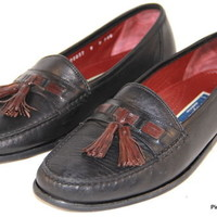 COLE HAAN BRAGANO Loafers Tassel Black Italy Mens Shoes Size 9 M