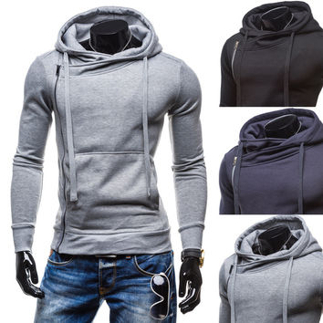 Autumn Men Stylish Slim Strong Character Hats Zippers Hoodies Jacket [6528758147]