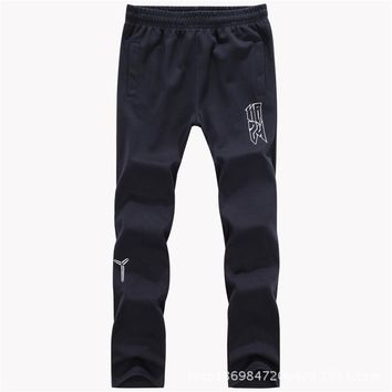 Men Sports Pants Winter Casual Cotton Sportswear [290340536349]