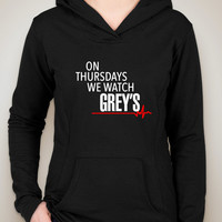"Grey's Anatomy ""On Thursdays We Watch Grey's"" Unisex Adult Hoodie Sweatshirt"