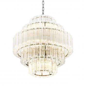5 TIER GLASS CHANDELIER | EICHHOLTZ VITTORIA