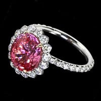 Pink halo diamond royal anniversary ring 3 by diamondsfromnewyork