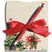 Christmas Tree Notepad with Pen
