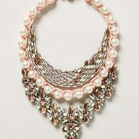 Trade Winds Bib Necklace by Shourouk Pearl One Size Necklaces