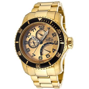 Invicta Men's 15343 Pro Diver 18k Gold Ion-Plated Stainless Steel Watch