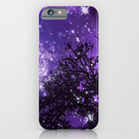 Trees, Stars and Lavender Skies iPhone & iPod Case by Minx267