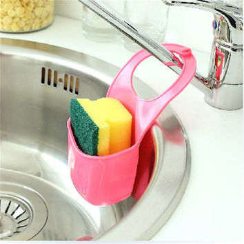 2016 Design Of PVC Hanging Strainer Organizer Vegetable Drain Creative Kitchen Sink Bathroom Pot Drainer Leaking Basket Hanger