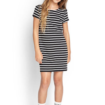 FOREVER 21 GIRLS Striped T-Shirt Dress (Kids)