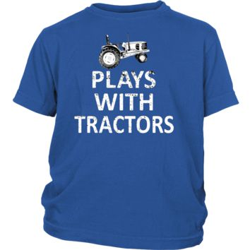Plays with Tractors Youth t-Shirt