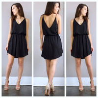 A Fancy Lady Crepe Dress in Black