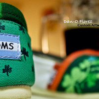 St Patricks Day and Holiday themed TOMS & Custom Toms You design them I paint them.