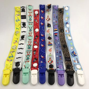 Cute pacifier chain clip pacifier chain cartoon anime variety of color children's pacifier clip baby feeding W0183