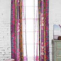 Magical Thinking Electric Chevron Curtain- Pink 52x84