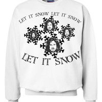 Let it Snow -Jon Snow Game of Thrones snowflake Christmas sweatshirt