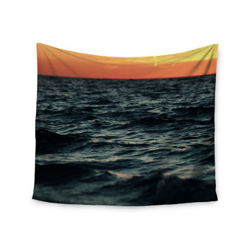 "Chelsea Victoria ""Laguna"" Orange Nature Wall Tapestry"