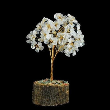 Clear Quartz Crystal Gemstone Tree 5""