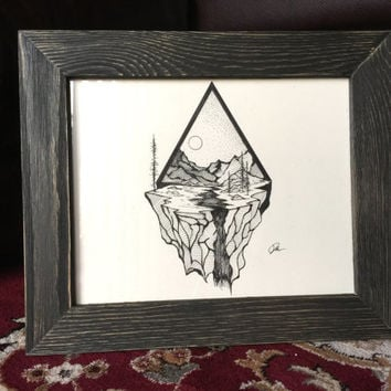 Original Framed Pen and Ink Illustration - November 22, 2015 (Day 572) | Derek Myers: Daily Drawings