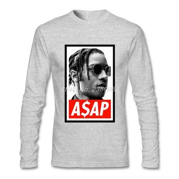 Fashion Style Men tshirt ASAP Rocky Cheap High Quality Hip Hop Shirt Tops Cotton Long Sleeve T Shirts Mens