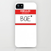 Hello My Name is Bae iPhone & iPod Case by Poppo Inc. | Society6