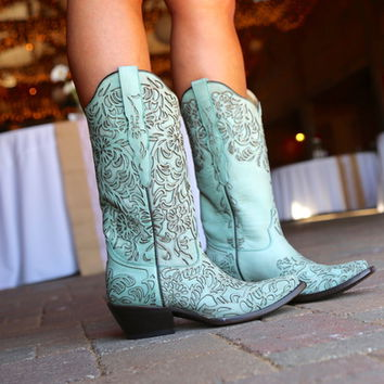 Corral Turquoise Embroidery Boot G1387